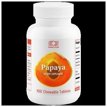 Papaya - roślinne enzymy trawienne do ssania