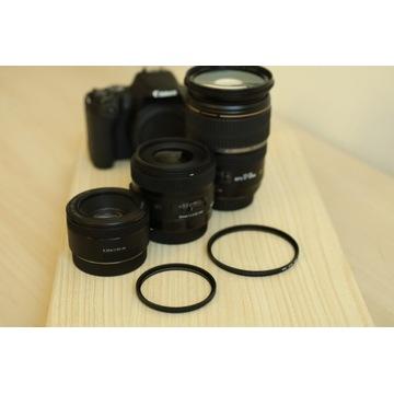 PREZENT ŚWIĄTECZNY Canon EOS 200D, 3 obiektywy i..