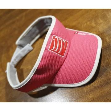 Daszek triathlonowy przeciwsłoneczny różowy