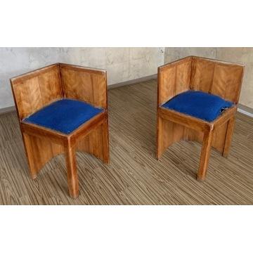 2 fotele/krzesła narożne (rogowe) - ANTYKI