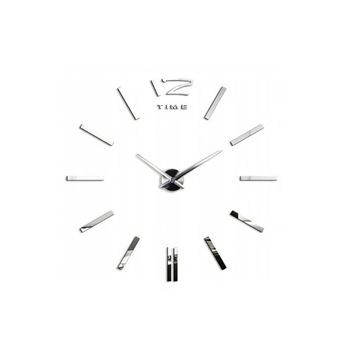 Duży naklejany zegar ścienny