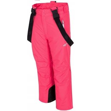 spodnie narciarskie 4F różowe 152 cm  JKUDN001