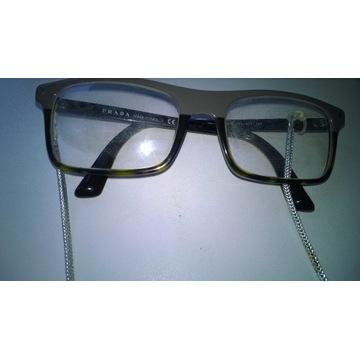 Oryginalne włoskie okulary marki PRADA
