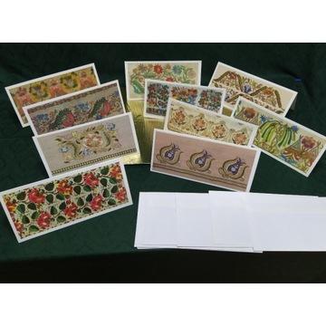 Ozdobna pocztówka wytłoczona - papeteria turecka