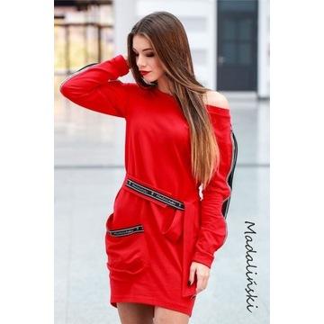 Sukienka czerwona Olimpia L/40