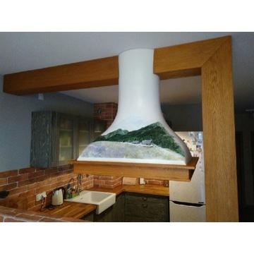 Okap kuchenny wyspowy pochłaniacz ręcznie wykonany