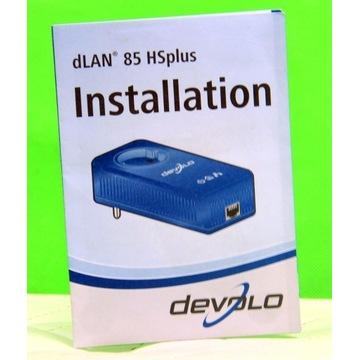 Internet po sieci 230V ! DEVOLO dLan 85 Mbit/s