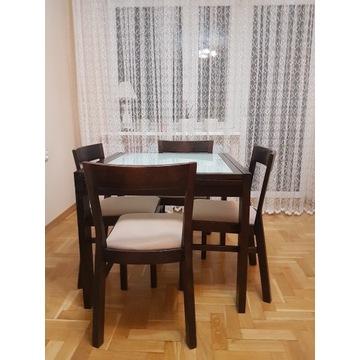 Stół brw wenge i 4 krzesła ikea