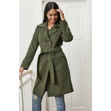 Płaszcz khaki plus size