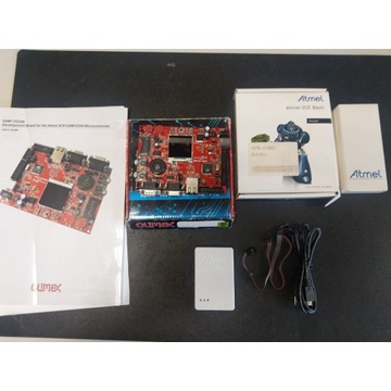 Atmel ICE Basic Box + Olimex SAM7-EX256
