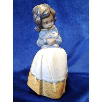 Lladro  Gres Figurka Dziewczynka z królikiem 2094