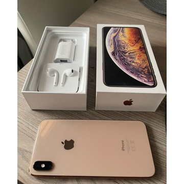 iPhone XS MAX 64GB Rose Gold Stan idealny komplet