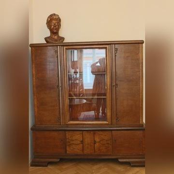 Antyk dębowa biblioteka z lat 20-tych