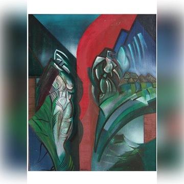 obraz olejny, sztuka współczesna