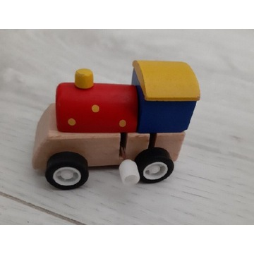 Brimarex, drewniana lokomotywa , nakręcana