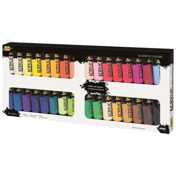 Farby akrylowe Solo Goya / zestaw 32 x 20 ml