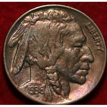 USA Indianin Buffalo 1936 - 5 centów - menniczy