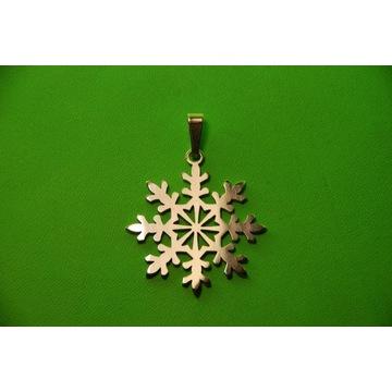 śnieżynka-wisior-brelok-przywieszka-srebro 925