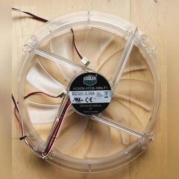 Wentylator 230 mm COOLER MASTER 3 PIN 12V RED