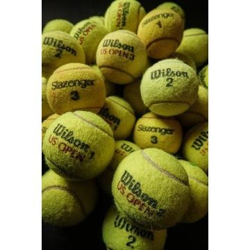 Piłki tenisowe, używane, w dobrym stanie.
