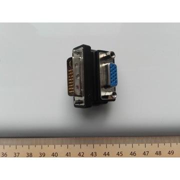 Adapter 90° DVI-I 24+5 do VGA(D-SUB) dla monitorów