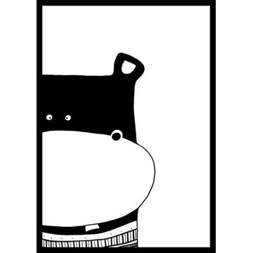plakat poster dla dziecka hipopotam zwierzę  A4