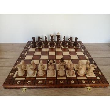 Drewniane szachy Ambasador w kasetce Ambassador