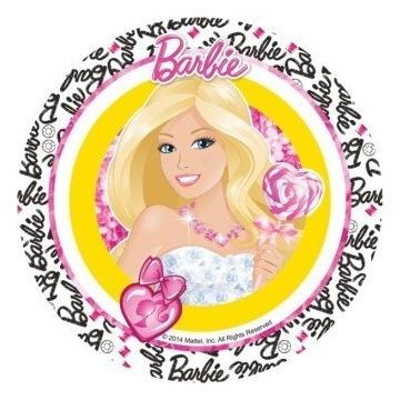 Opłatek na Tort Gruby Barbi
