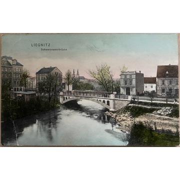 Legnica,Liegnitz, Schwarzwasserbruecke, 1908 rok