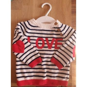 Sweterek H&M rozm. 68 dla dziewczynki