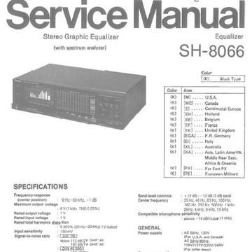 Technics SH-8066, Service and Owner Manual