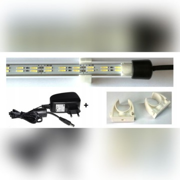 PODWÓJNA Lampa LED akwarium 40cm 8520