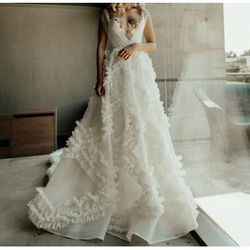 Suknia ślubna Ivory/Rose gold S/M