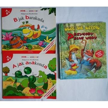 Zestaw 3 książek Nauka literek i czytania