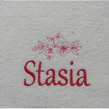 Ręcznik 30x50 z haftem imienia Stasia upominek