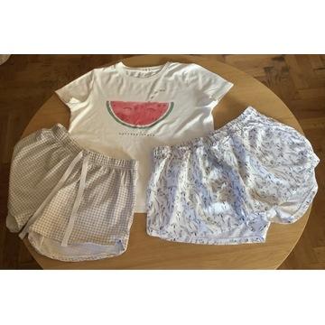 Spodenki piżamowe damskie - 2 sztuki + bluzka, L