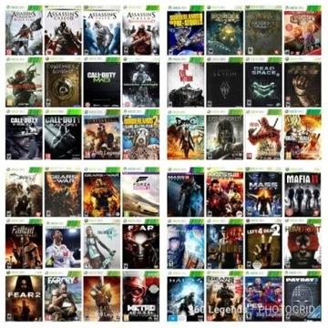 Komplet gier Xbox 360 RGH, hdd 500gb, 80 gier RGH