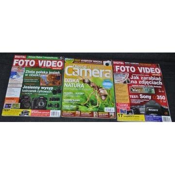 3 gazetki + CD- FOTO- VIDEO (2x) + Digital Camera