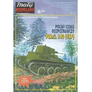 MM 9/1999 Polski czołg PZInż 140