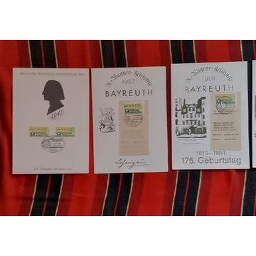 Kartki pocztowe R.Wagner Bayreuht Festiwal 86-92