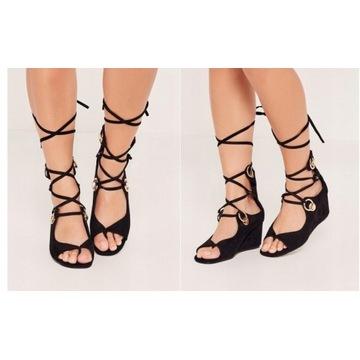 Damskie sandały wiązane MISSGUIDED 38
