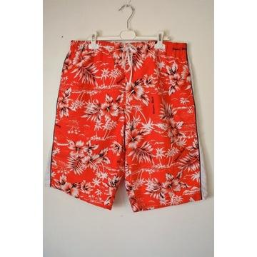 Męskie tropikalne kąpielówki plażowe SAPS XL