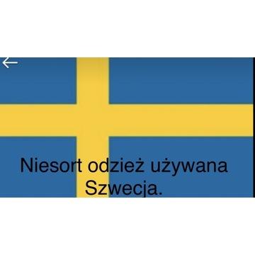 Ciuchy nie sortowane Szwecja.