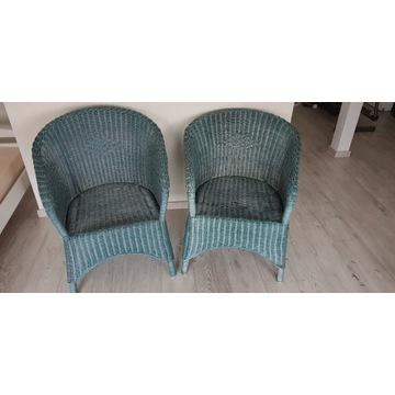 2 fotele z wikliny