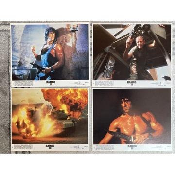 Rambo III- Stallone- 4 karty kinowe -kadry filmowe