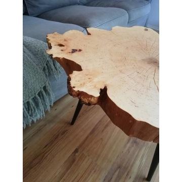 stolik  z plastra olchy z przerostami czeczota