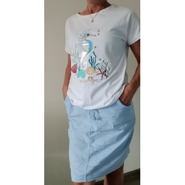 T-shirt konik morski