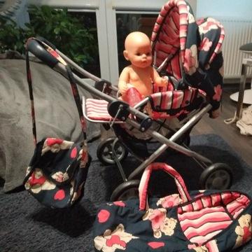Baby born lalka plus wózek
