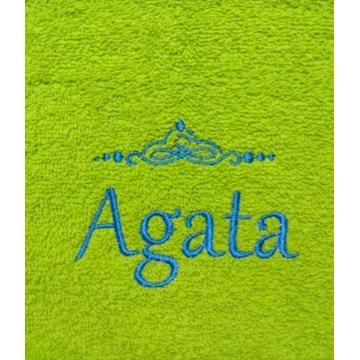 Ręcznik 30x50 z haftem imienia Agata