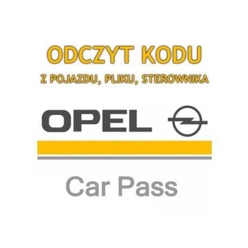 Odczyt kodu PIN CARPASS OPEL wylogowanie modułu